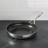 "Crate & Barrel ZWILLING ® Demeyere 5-Plus Stainless Steel 11"" Nonstick Fry Pan"