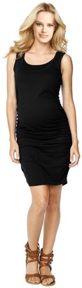 Belly 360 Womens' Ruched Tank Dress with Nursing Access - Black - Large