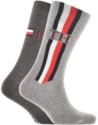 Tommy Hilfiger 2 Pack Iconic Stripe Socks Grey