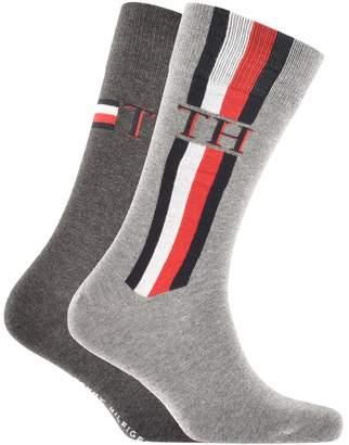 Tommy Hilfiger 2 Pack Iconic Stripe Socks Grey