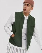 Asos Design DESIGN canvas vest in khaki