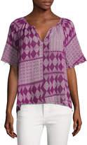 Velvet by Graham & Spencer Women's Cotton Curved Top