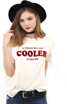 Wildfox Couture Cooler Sonic Tee in Vanilla Latte
