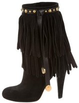 Gucci Devendra Fringe Ankle Boots