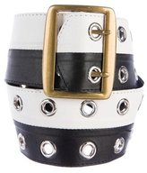 Marni Leather Grommet-Accented Belt
