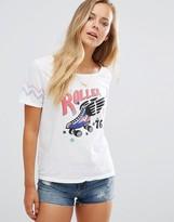 Maison Scotch Roller Girl Star Print T-Shirt