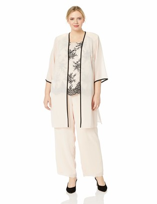 Le Bos Women's Size Lace 3 pc Pant Set Plus