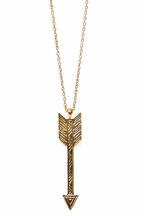 House Of Harlow Arrow Drop Necklace in Gold