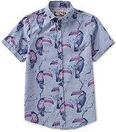 First Wave Big Boys 8-20 Toucan Print Short-Sleeve Woven Shirt