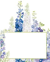 Caspari Place Cards Weddings Parties No Placecard Holders Needed 8 Placecards Tented & Die Cut Delphiniums