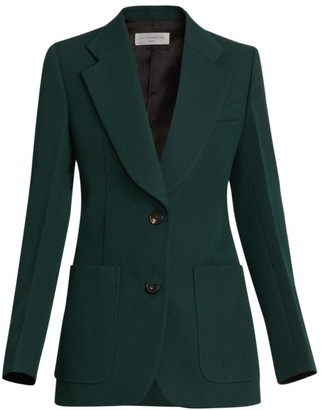 Victoria Beckham Fitted Patch-Pocket Wool Jacket