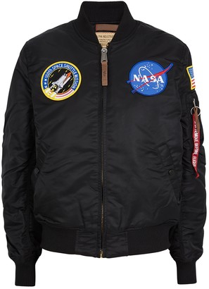 Alpha Industries MA1-VF NASA Black Shell Bomber Jacket