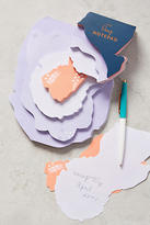 Anthropologie Floral Dimensional Notepad