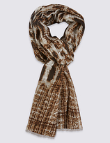 M&S Collection Leopard Print Scarf