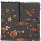 Coach space motif scarf