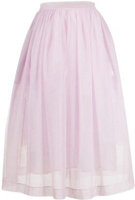 Simone Rocha Back-Tie Tulle Skirt