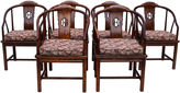 One Kings Lane Vintage Chinoiserie Dining Chairs, S/6