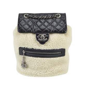 Chanel Timeless/Classique Ecru Shearling Backpacks