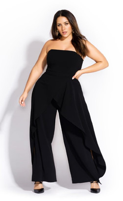 City Chic Attraction Jumpsuit - black
