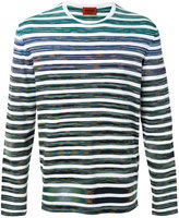 Missoni round neck striped sweater - men - Cotton - 46