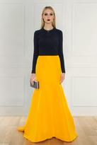 Oscar de la Renta Silk Faille Skirt