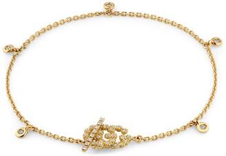 Gucci GG Running bracelet with diamonds