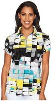 Jamie Sadock - Digi Box Print Short Sleeve Top Women's Clothing