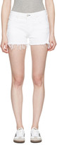 Amo White Denim Babe Shorts