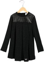 Armani Junior Girls' Long Sleeve Pleated Top