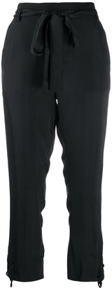 Ann Demeulemeester Cropped Straight-Leg Trousers