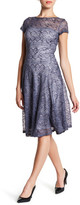 Sangria Lace A-Line Dress (Petite)