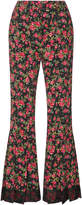 Dolce & Gabbana Floral-Print Flared Pants