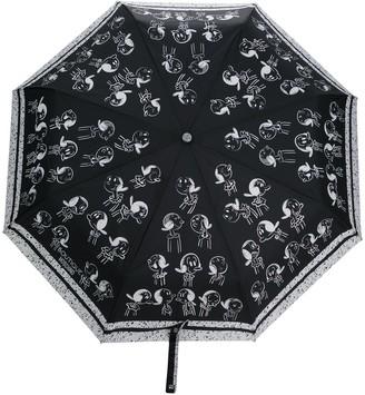 Moschino Graphic Print Umbrella