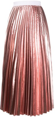 P.A.R.O.S.H. Pleated Midi Skirt