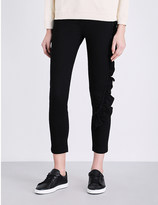 Diesel De-lou frill-detail skinny high-rise jeans