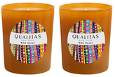 Qualitas Candles Wild Honey Beeswax Candles (Set of 2) (6.5 OZ)