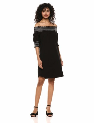 Tribal Women's Off The Shoulder Smocked SLV Dress