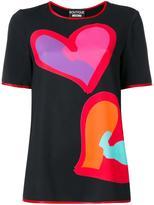 Moschino heart print T-shirt - women - Cotton/Polyester/other fibers - 38