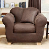 Sure Fit Stretch Leather Box Cushion Armchair Slipcover