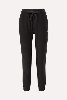 BLOUSE - Habitual Cotton-terry Track Pants - Black