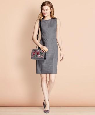 Brooks Brothers Pinstripe Stretch Wool Sheath Dress