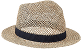 John Lewis Seagrass Trilby Hat, Natural