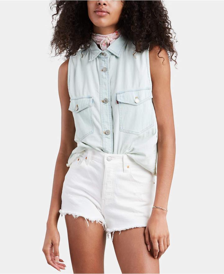 Levi's Maddie Sleeveless Cotton Shirt