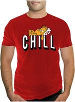Novelty T-Shirts Garfield & Chill Short-Sleeve Cotton Tee