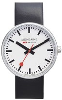 Mondaine Men's '(Evo)Lution - Sbb Mini Giant' Leather Strap Watch, 35Mm