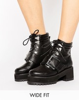 Asos RIVER Wide Fit Hiker Boots