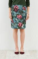 J. Jill Floral Ponte Knit Skirt