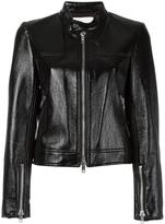 3.1 Phillip Lim vinyl moto jacket - women - Cotton/Polyurethane/Viscose - 2