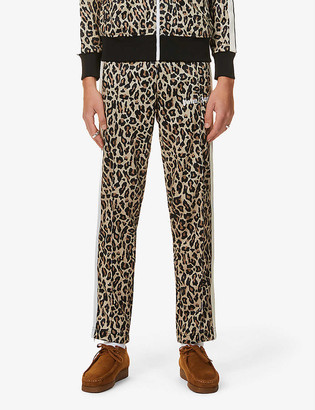 Palm Angels Leopard-print velour tracksuit bottoms