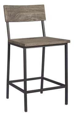 """Speedwell Solid Wood 24.5"""" Counter Stool (Set of 2) Union Rustic"""